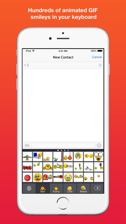 Smileys Keyboard: Custom GIF animated emoticon and emoji keyboard