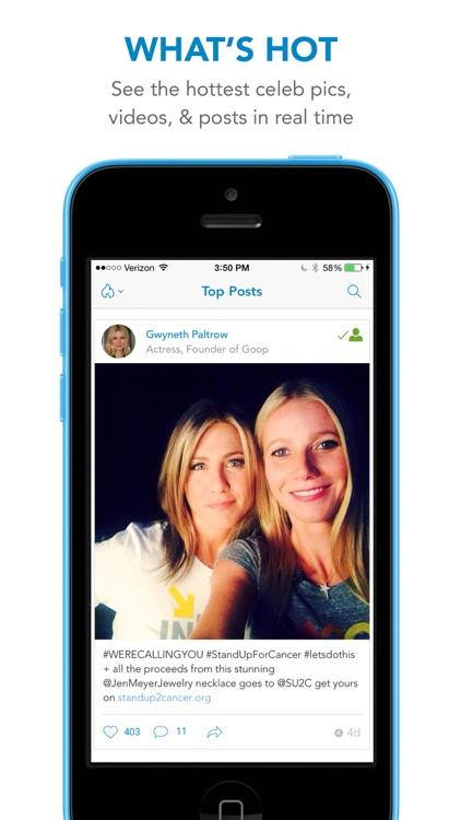 WhoSay - A social magazine by celebrities screenshot-4