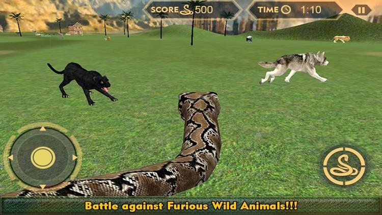 Real Anaconda Snake Simulator 3D: Hunt for wolf, bear, tiger