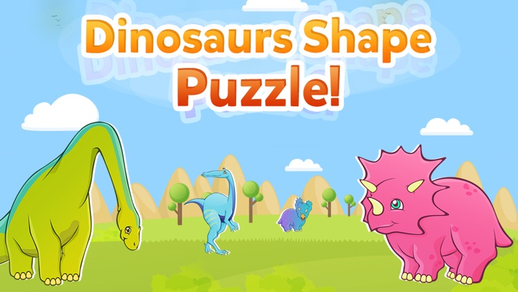 Dinosaur Shape Puzzle - Preschool and Kindergarten Kids Dino Educational Early Learning Adventure Game for Toddlers