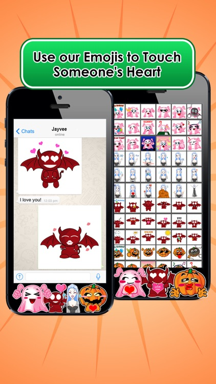 Emoji Kingdom 15 Free Pumpkin Halloween Emoticon Animated for iOS 8 screenshot-4