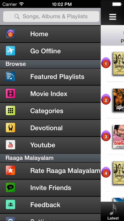 Raaga Malayalam Songs Radios Top 10 Hits Videos Devotional Music screenshot-2