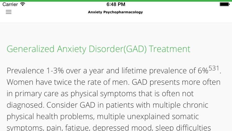 Anxiety Psychopharmacology screenshot-3
