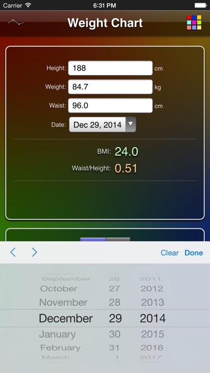 Weight Chart screenshot-4