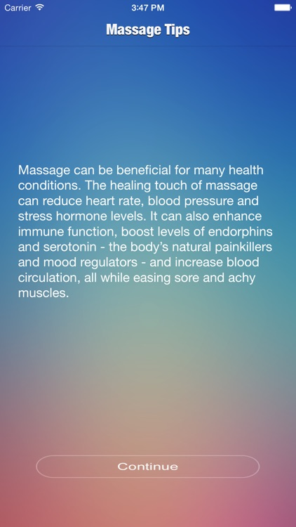 Massage Tips