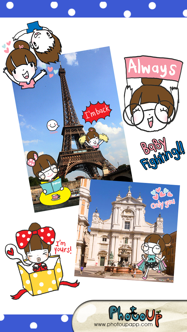 La Pluie Camera by Photoup - Cute Cartoon stickers Decoration - Stamps Frames and Effects Filter photo app Screenshot
