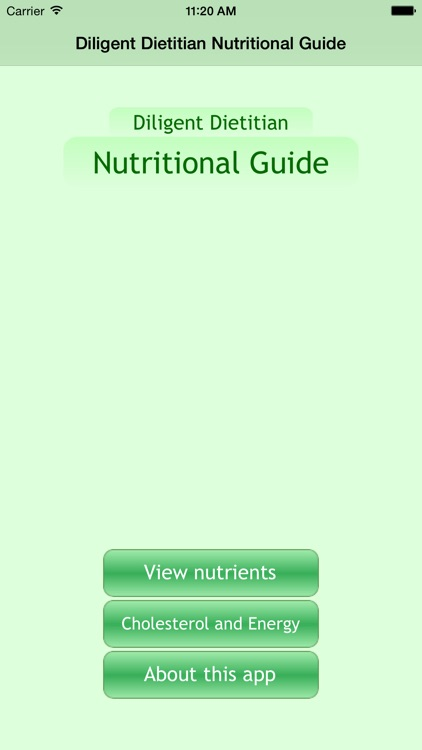 Diligent Dietitian Nutritional Guide