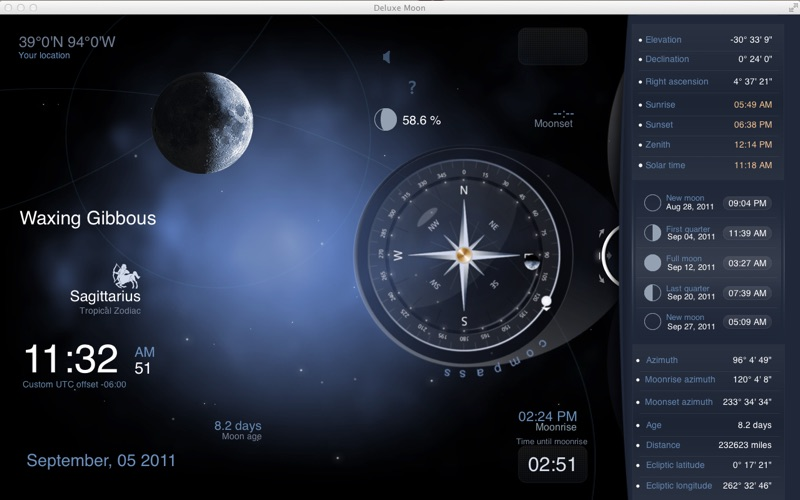 Deluxe Moon HD - Moon Phase Calendar på PC