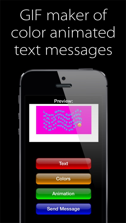 AnimaText - GIF maker of the color animated text messages screenshot-0