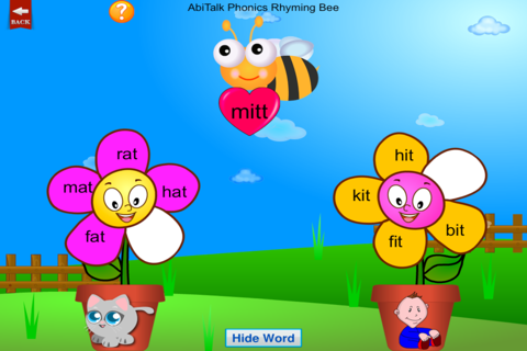 Phonics Rhyming Bee Free - Short Vowels for Presch - náhled