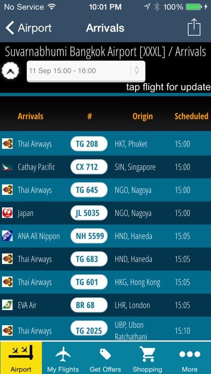 Bangkok Airport Pro (BKK) Flight Tracker air radar Thai Bangkok Asia
