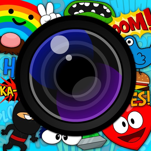 Pic Perfect Cartoon And Comics FX Sticker Photo Booth Camera For Instagram