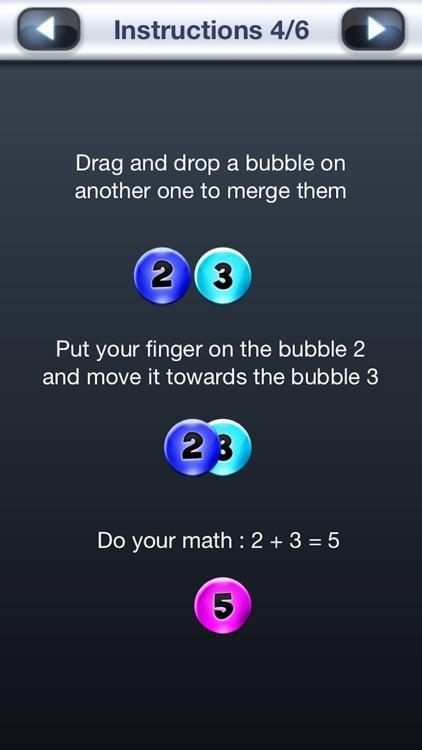 Numbers Addict 2 Splash HD FREE for iPhone, iPad & iPod Touch - Bubble Puzzle Brain & Mind IQ Challenge screenshot-3