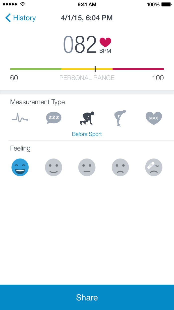 Runtastic Heart Rate Monitor Screenshot