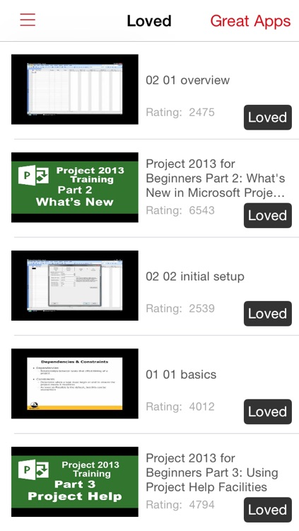 Videos Training For Project screenshot-3