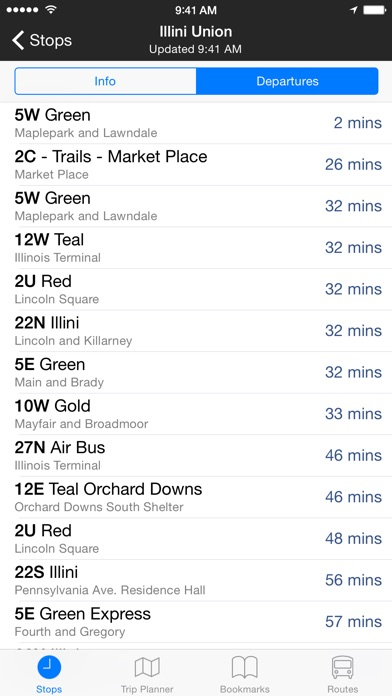 Screenshot for CU Transit in United States App Store