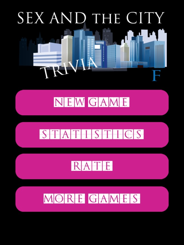 Sex and the city trivia games