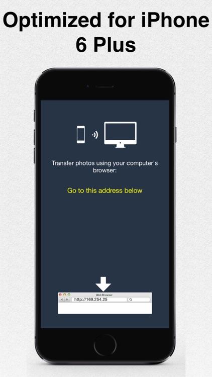 iTransfer - the best wireless photo transfer app