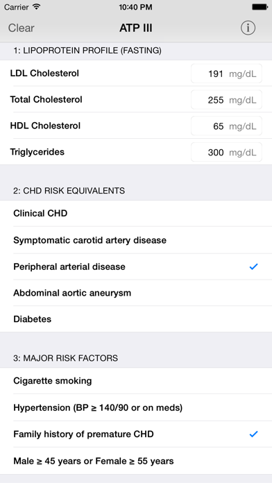 Screenshot #1 pour ATP3 Lipids Cholesterol Management