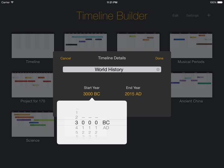 The Timeline Builder screenshot-2