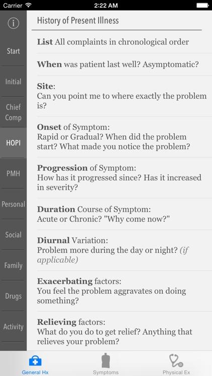 Clinical Skills - History, Symptoms & Physical Examination
