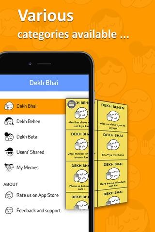 Dekh Bhai ~ Create Funny Indian Meme - náhled