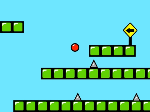 Red Bouncing Ball Spikes Free-ipad-1