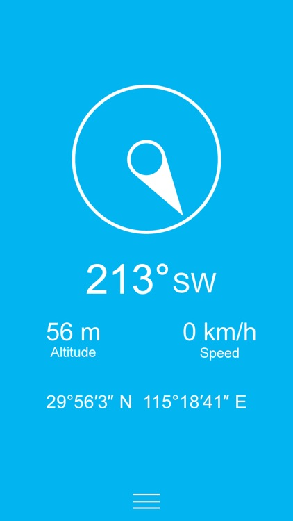 Compass Zen PRO - Minimalist compass with altimeter, speedometer, and more screenshot-0