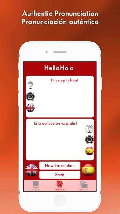 Hello Hola - English to Spanish translator/Español al