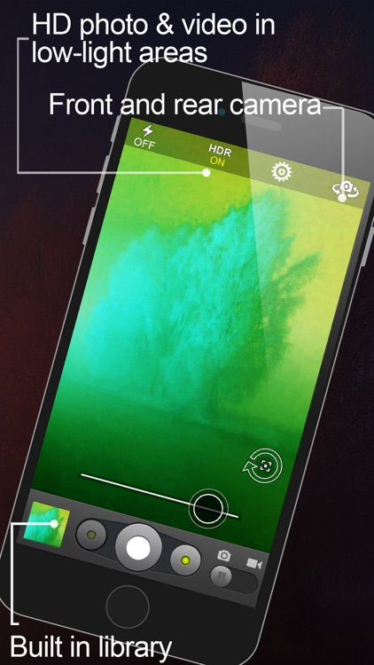 NightShot –x Night Vision Slow Shutter Speed Photography (Photos and Videos in low light) screenshot-3