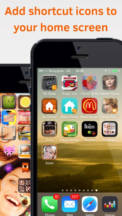 1Touch - Customize your Home Screen with powerful shortcut icons