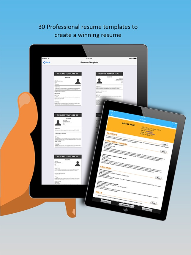 Iresumes pro resume builder and designer on the app store iresumes pro resume builder and designer on the app store yelopaper Choice Image