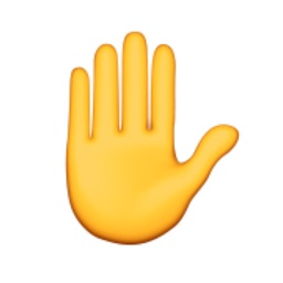 Talk to the Hand Emoji — Giant-sized emojis for real life