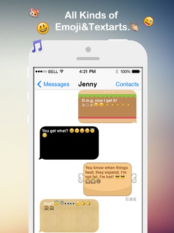 Fancy Message-Pimp Text with Emoji Keyboard, New Color Bubble and Textart FREE-ipad-3