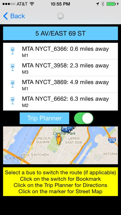 NYC Instant Real Time MTA Bus Text - Public Transportation Directions and Trip Planner Pro screenshot-3