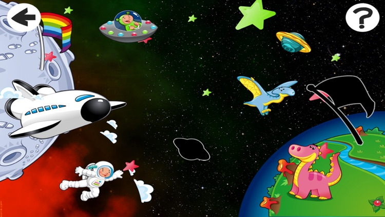 Alien-s Lost in Space with Robot-er, Dino-saur and Star-s In Fun-ny Kid-s Game-s screenshot-4