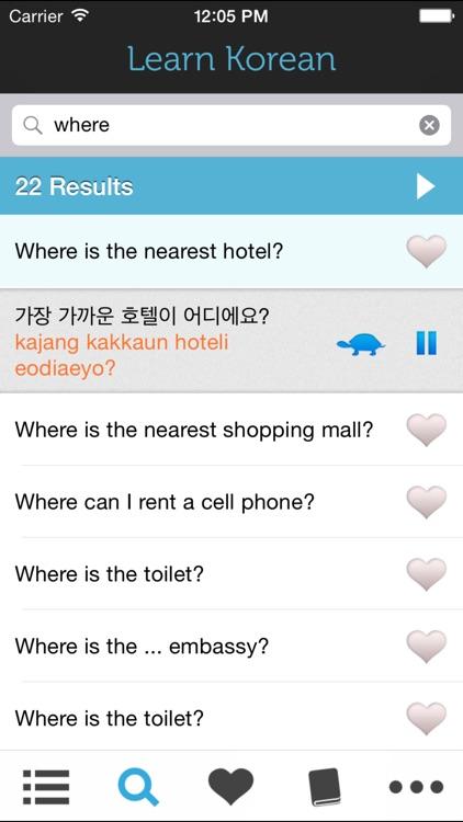 Learn Korean HD - Phrasebook for Travel in Korea screenshot-3