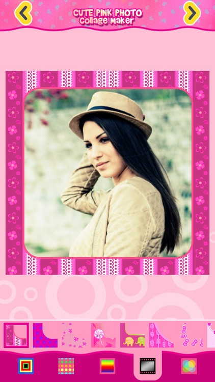 Cute Pink Photo Collage Maker: Adorable photo editor for girls with lots of photo frames, background color themes and photo filters