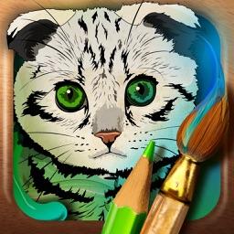 Colour the cat!