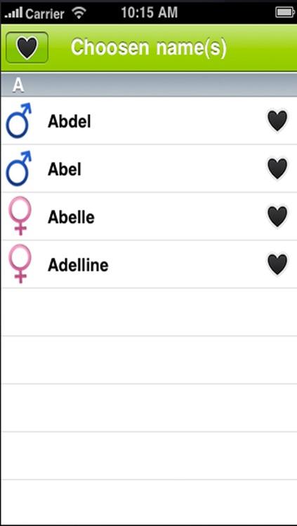 Name Your Baby.Favorite Baby Names screenshot-3