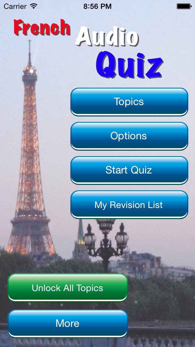 French GCSE Audio Quiz screenshot three