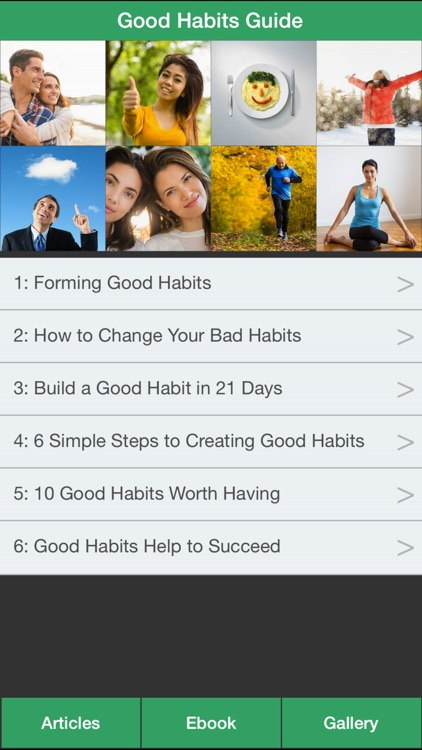 Good Habits Guide - A Guide To Changing Your Bad Habits To Good Habits !