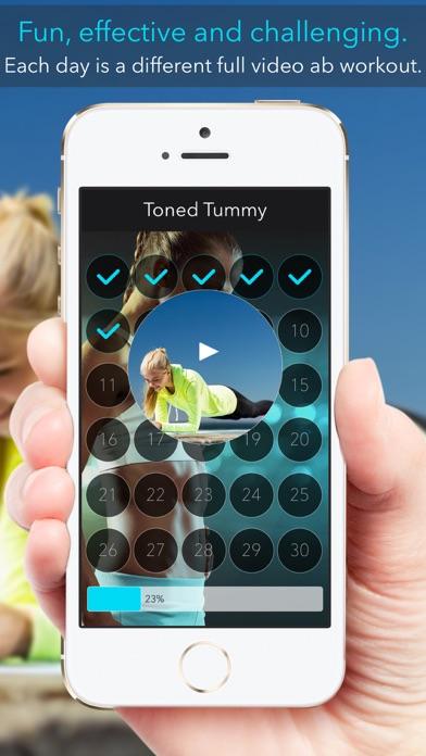 Toned Tummy Lite: 30 Day Ab Challenge for Womenのおすすめ画像1