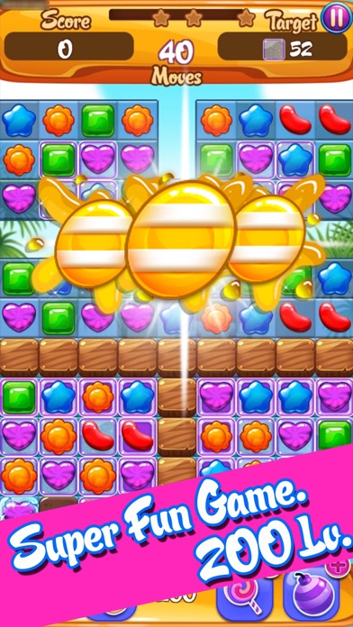 Sweet Jelly Fruit Garden Mania : Match 3 Free Game
