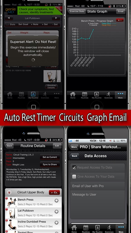 MyFit Fitness - Workout Logger and Weight Loss Exercise Tracker Free screenshot-3