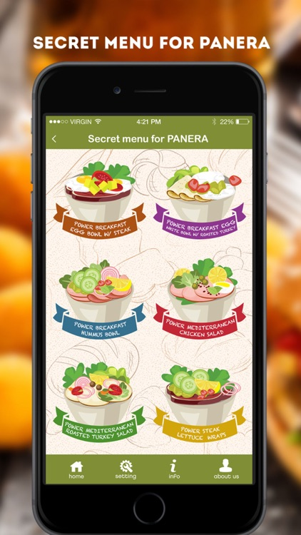 Secret Menu for Panera Bread