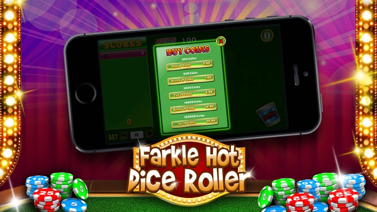 Farkle Hot Dice Roller - Deluxe 10,000 Active Casino Game (Free) screenshot-3