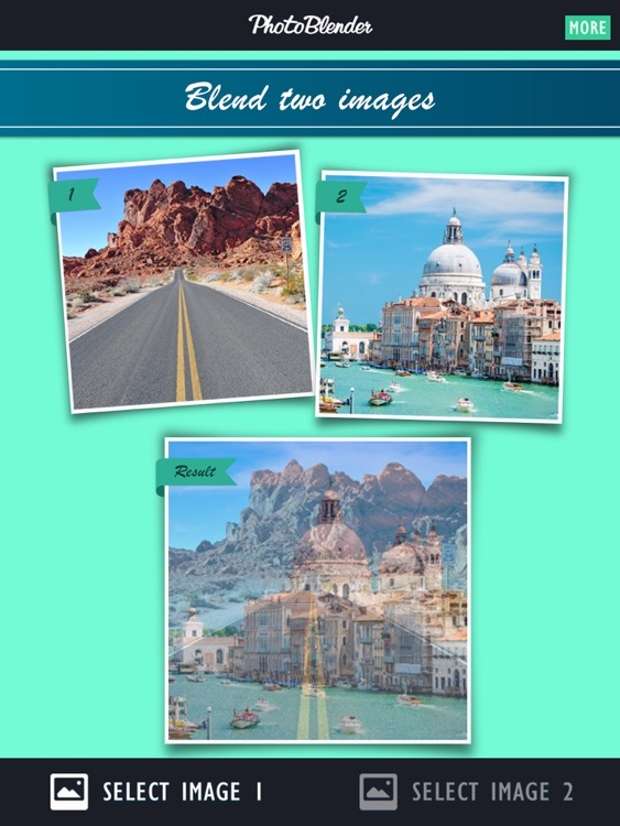 PhotoBlender HD - Double exposure pic blender used to blend, morph, mix, overlap, and alter yr images with this arty cloning picture app for FB. Not affiliated with Photoshop or Illustrator! Free!