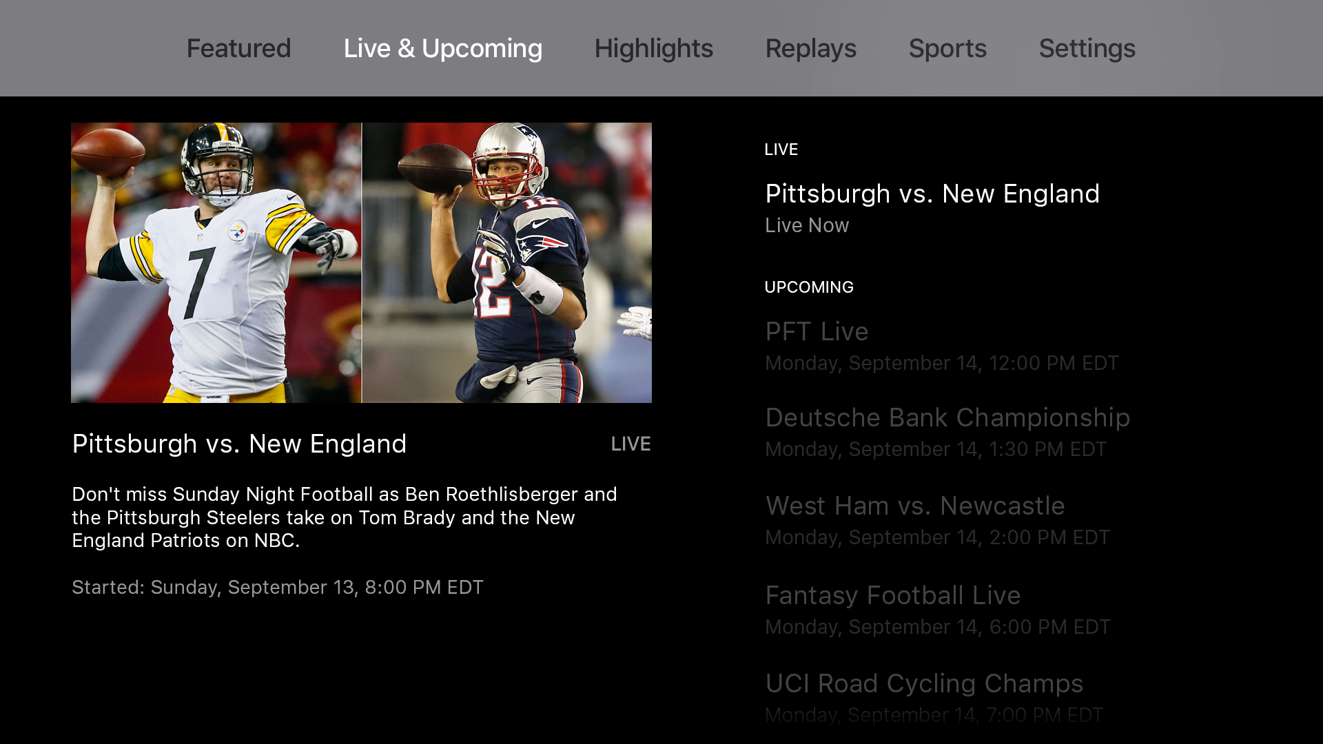 NBC Sports screenshot 11