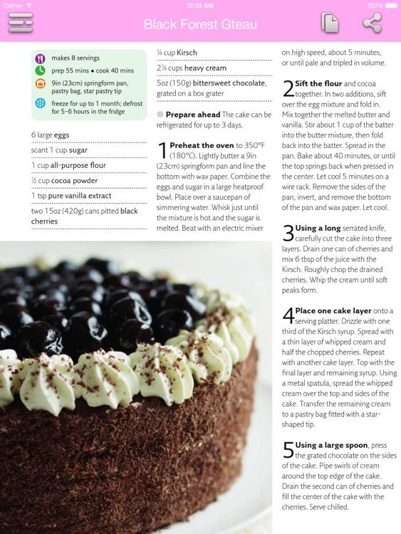 Dessert & Cake Recipes for iPad screenshot-3